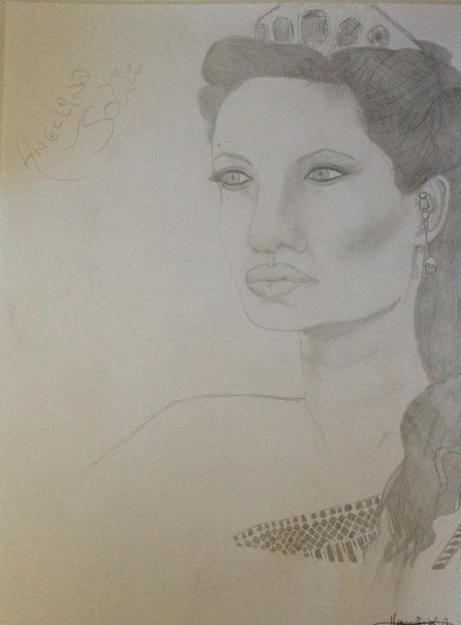 Angelina Jolie by Margalith